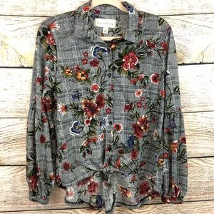 French Laundry Floral Button Down Shirt Medium